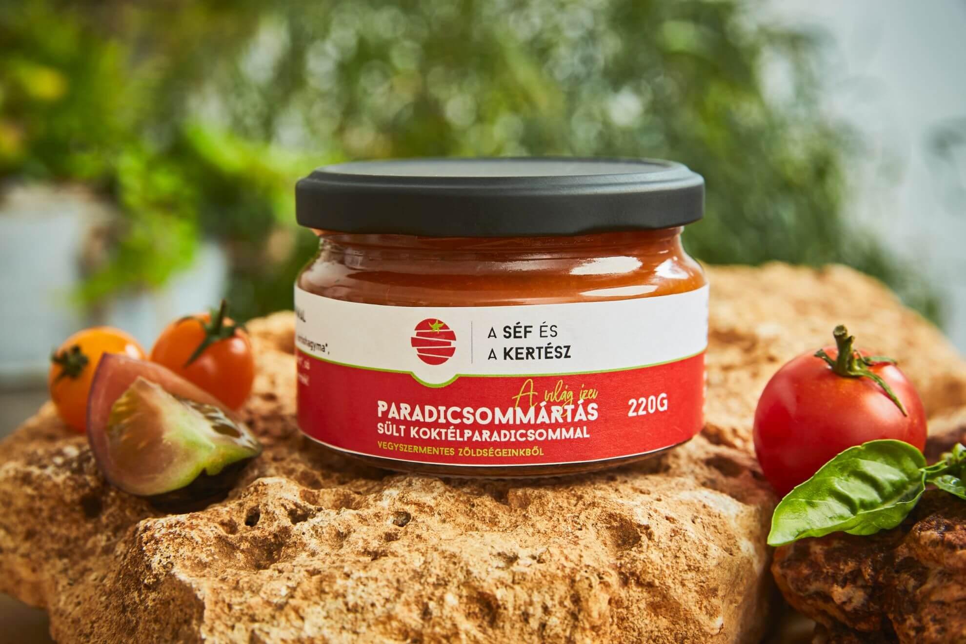 Paradicsommártás sült koktélparadicsommal – kézműves termék – a séf és a kertész