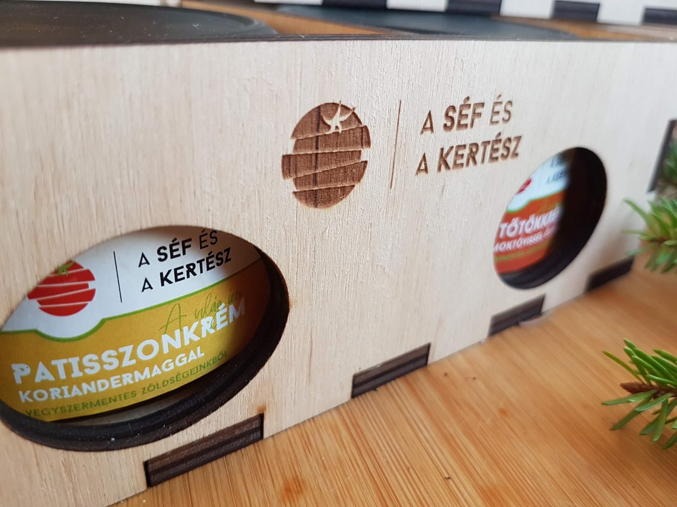 fad dobozos csomag – kézműves termék – a séf és a kertész