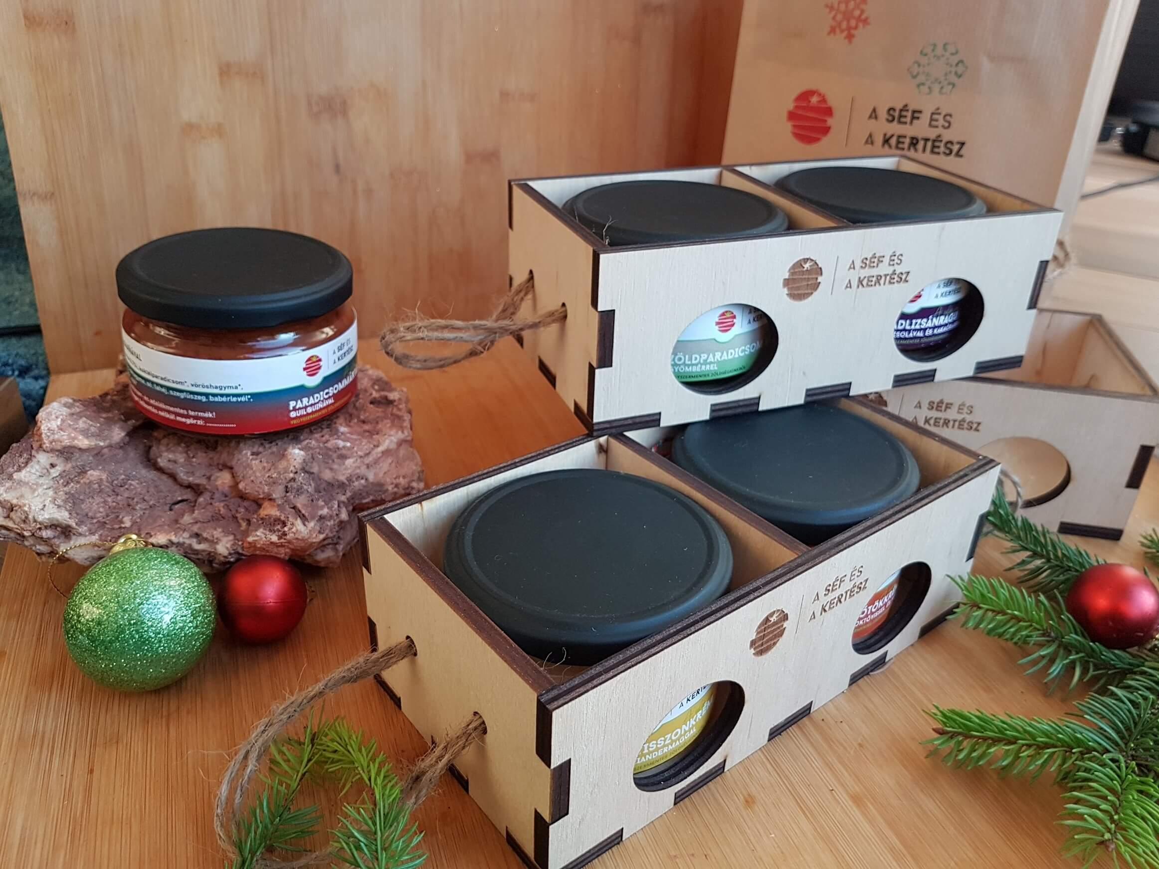 karacsonyi csomag – kézműves termék – a séf és a kertész