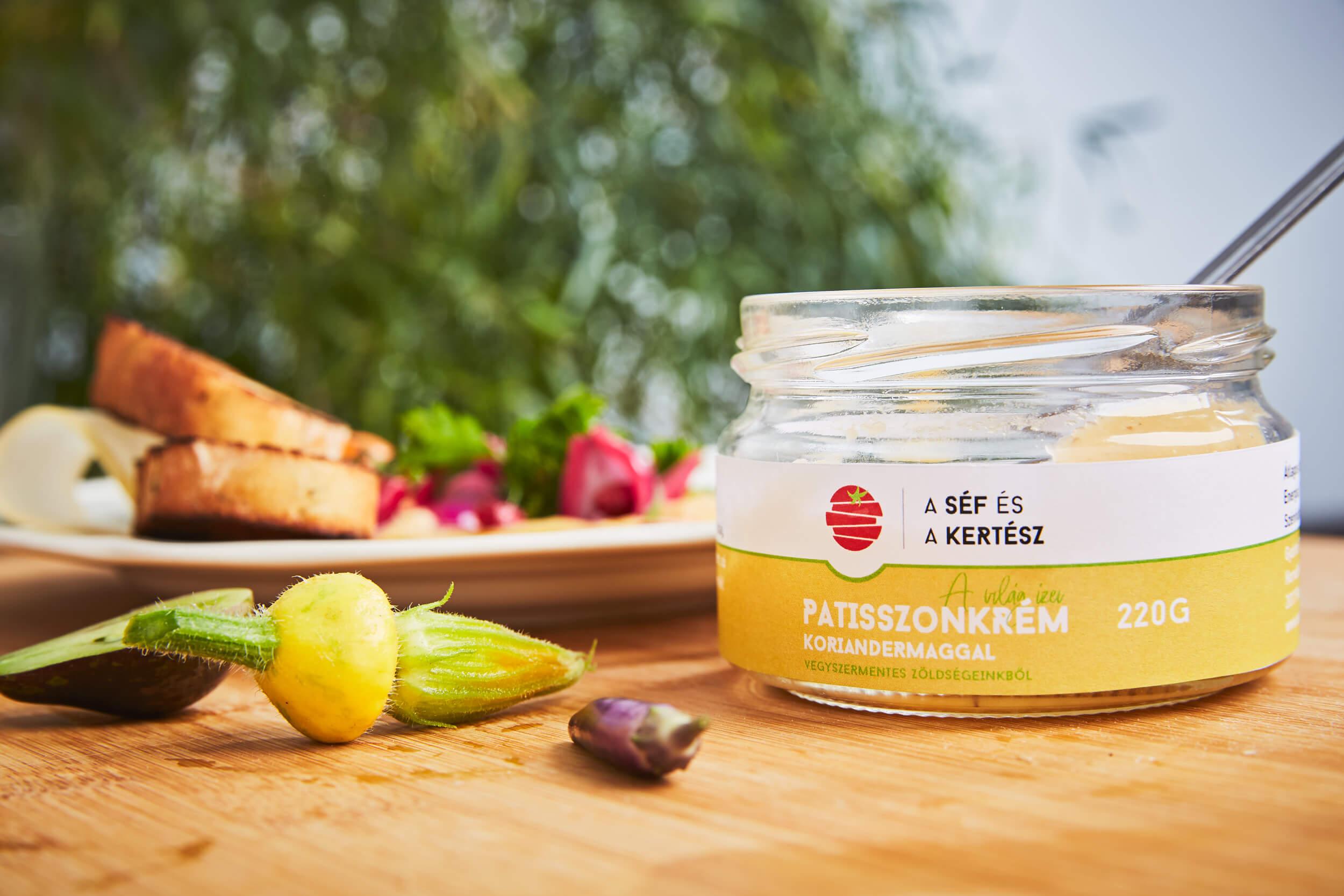 patiszonkrém – koriandermaggal – kézműves termék 2 – a séf és a kertész
